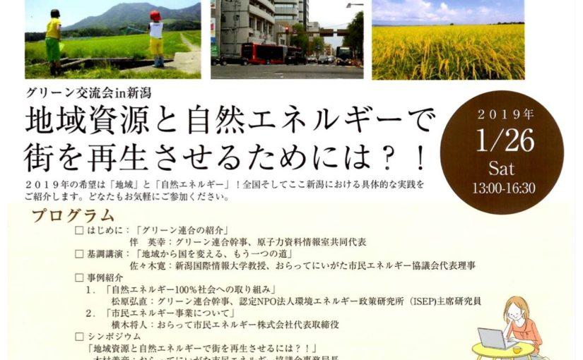 【開催案内】グリーン交流会in新潟(2019/1/26)※資料掲載